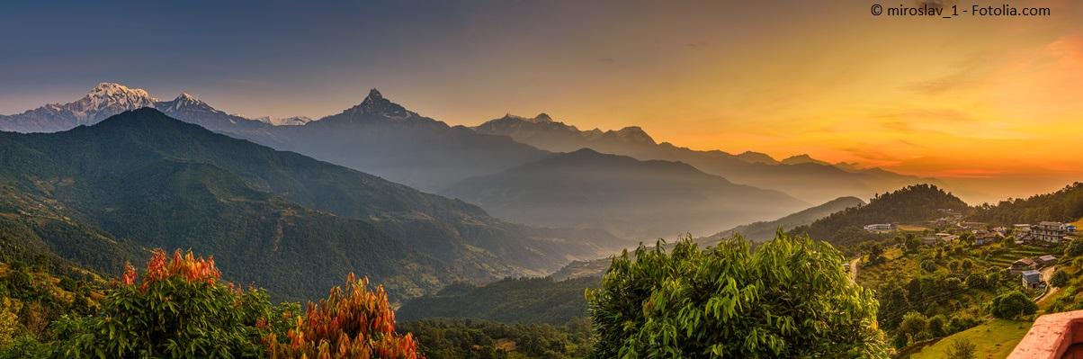 Himalya, Asien, Reisen in eine andere Welt.