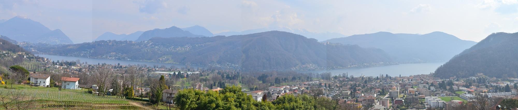 Aussicht vom Hotel Paladina, Pura, Tessin