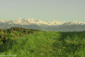 Blick Burgweid, Adetswil, Richtung Berge