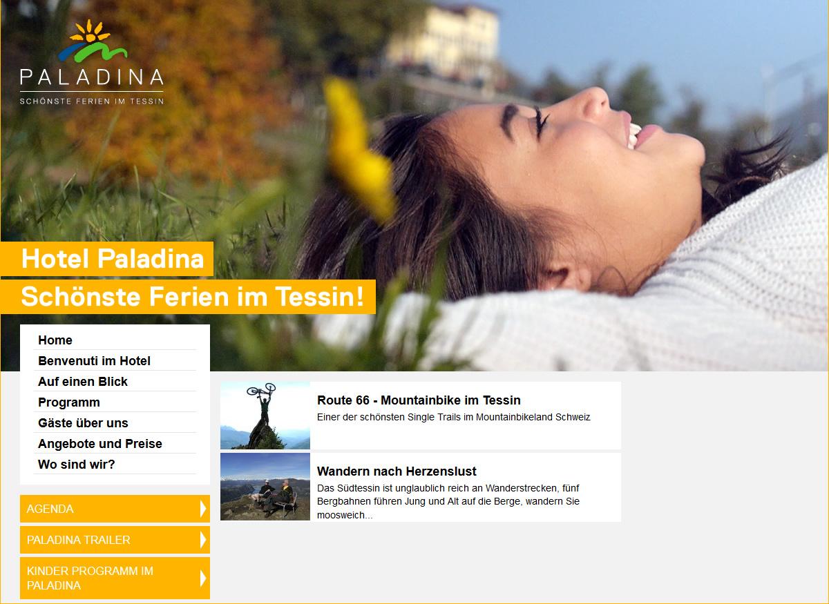 Webauftritt Hotel Paladina.